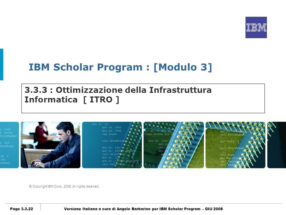 3.3.3 : Ottimizzazione della Infrastruttura Informatica [ ITRO ]